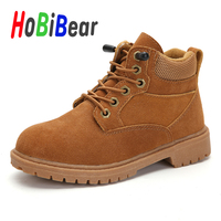 Spring 2020 Kids Outdoor Boots for Boy Brown Fashion Big Boy Motorcycle Boots Rubber Young Boy Leather Boots Kid Casual Shoes