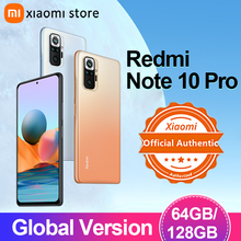 Global Version Xiaomi Redmi Note 10 Pro 6GB/8GB 64GB/128GB Smartphone 108MP Camera Snapdragon 732G 120Hz AMOLED Display