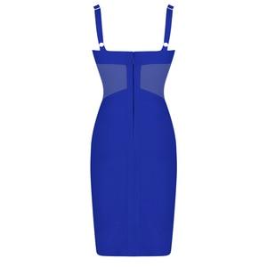 Image 5 - Ocstrade夏セクシーなレーヨン包帯ドレス 2020 新着メッシュインサート女性包帯ドレス黒パーティーナイトクラブボディコンドレス