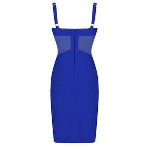 Image 5 - Ocstrade yaz seksi Rayon bandaj elbise 2020 yeni gelenler örgü ekle kadın bandaj elbise siyah parti gece kulübü Bodycon elbise