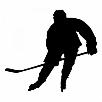 18x16cm hockey Sportman Guard player Boy Stickers Car Decals Car Head Sign Unique Art Vinyl Mural CL332 image