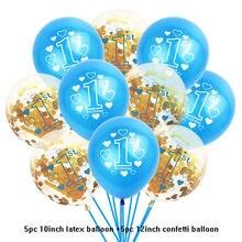 """10 шт 1st праздничных воздушных шаров """"один 1 year old"""