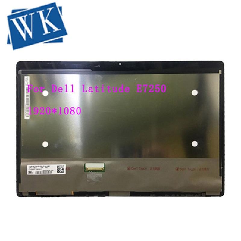 Dell latitude e7250 lcd 어셈블리 LP125WF1 SPG1 터치 디스플레이 스크린 디지타이저 1920*1080-에서노트북 LCD 스크린부터 컴퓨터 및 사무용품 의