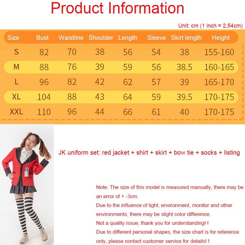Yomoduki Runa Cosplay Costume Kakegurui Compulsive Gambler Runa Cosplay Wig and Orange Hooded Jacket JK Uniforms0 (17)