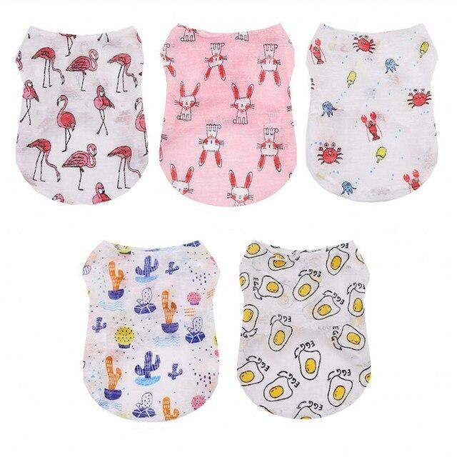 Crème solaire chien gilet été Cool vêtements pour animaux de compagnie pas cher chien vêtements pour petits chiens respirant chat T-shirt mignon chiens animaux vêtements