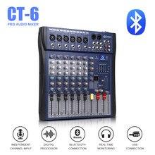 Bom som! controlador de dj usb, controlador dj, amplificador profissional, 6 canais de áudio, efeito digital, karaoke, ktv, misturador de casamento