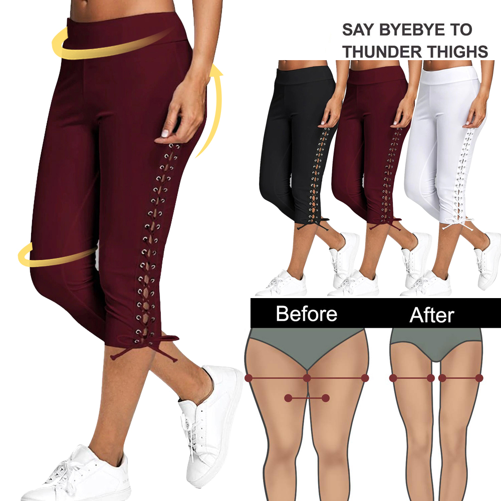 SIFT 2019 Soild Yoga Pants Women High Waist Sports Leggings Ladies Casual Outdoor Jeans Push Up Gym Workout Capri Pants