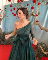 Green Strapless Formal Dresses Woman Party Night One Shoulder Backless Sexy Club Sequin Dress Women Elegant Long Dresses Evening