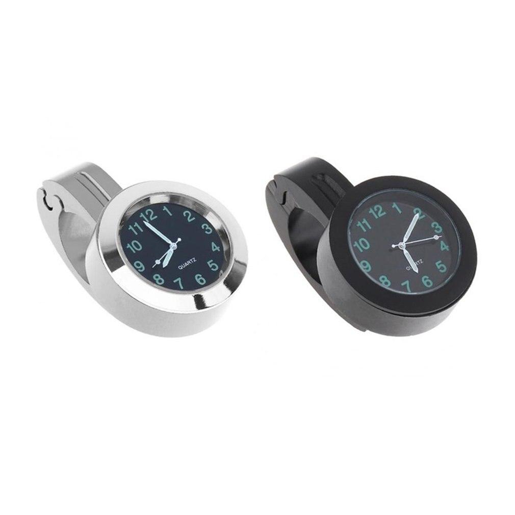 Relógio universal à prova dágua, mini indicador de liga de alumínio para montagem e guidão de bicicleta