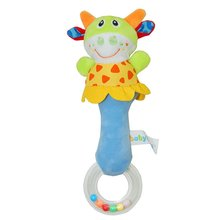 Lovely Plush Stuffed Animal Baby Rattle Squeaky Sticks Toys Hand Bells for Child