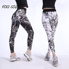 Тонкие леггинсы мраморного цвета для Фитнес Для женщин sportleggings