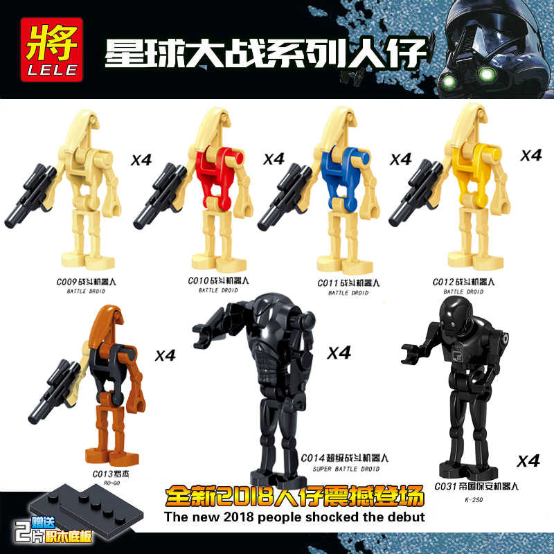حرب النجوم شخصيات ماندالوريان لوقا ليا يوك أناكين الطفل يودا الفضاء الحروب روبوت R2-D2 الروبوت C-3PO حرب النجوم ألعاب مكعبات البناء