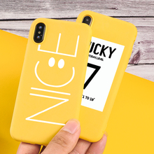 Candy Phone Case For iPhone X XS Max XR Cute NICE Smile Painted Letter iphone 7 8 Plus 6 S P 5 SE Back Cover Fundas
