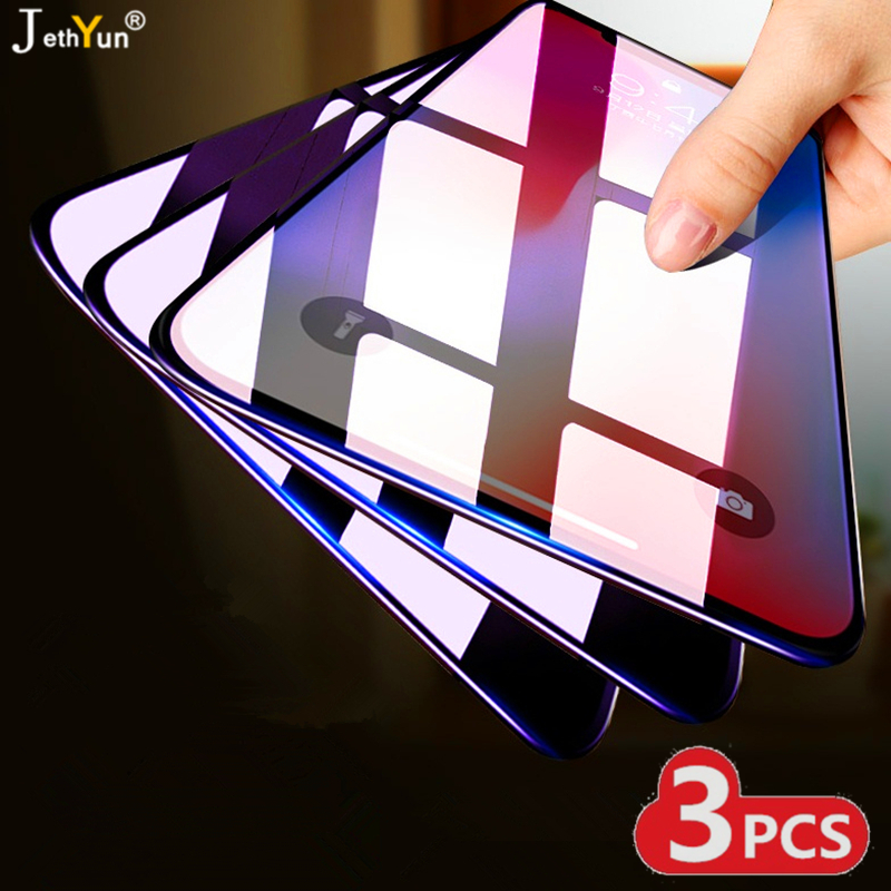 3PCS 9H Tempered Glass For Xiaomi Redmi Note 5 6 7 8 Pro 8T Screen Protector Protective Glass For Xiaomi Redmi 7 7A 8 8A Film
