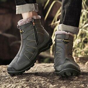 Image 2 - Snow Boots for Men Plush Waterproof Slip Men Boots Platform Thick Resistant Winter Shoes Plus Size 38 46 Warmest Winter Shoes