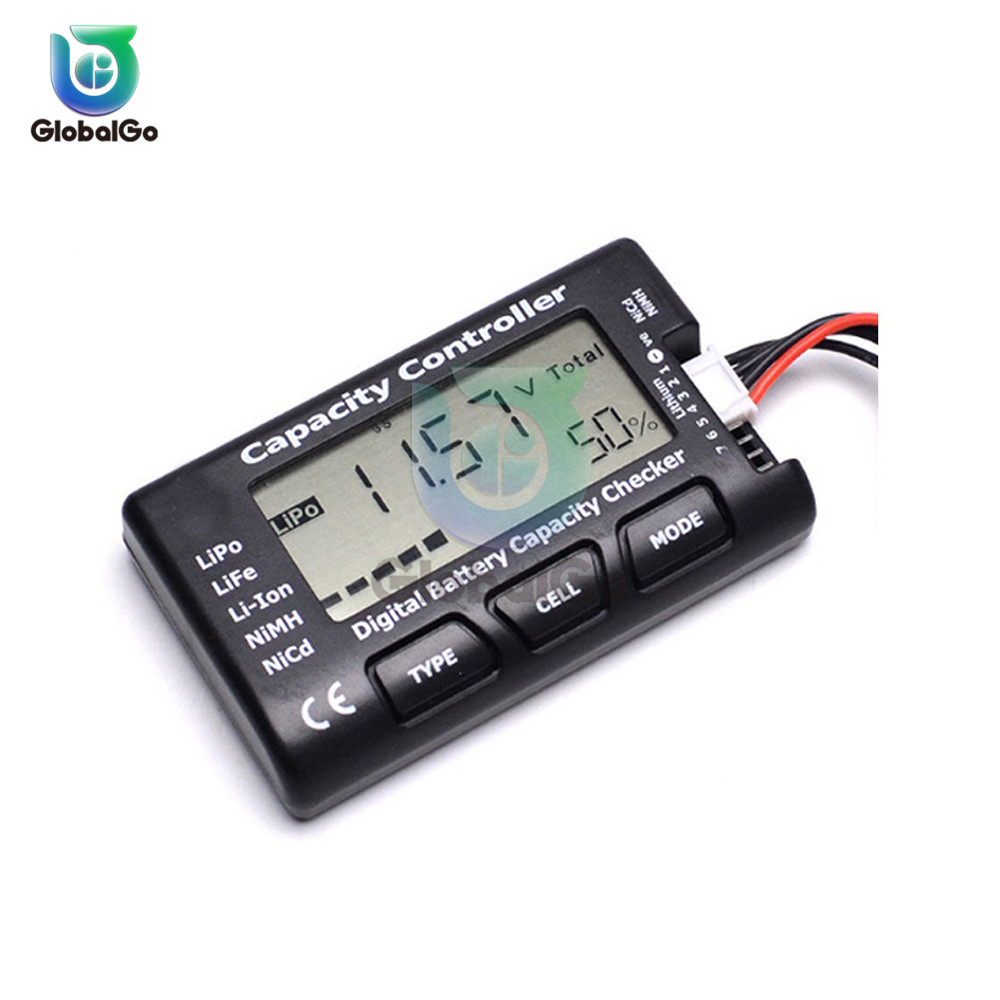 Digital Voltmeter Battery Capacity Controller Checker For Nicd NiMH LiPo LiFe Li-ion RC Battery Cell Meter Voltage Tester Check