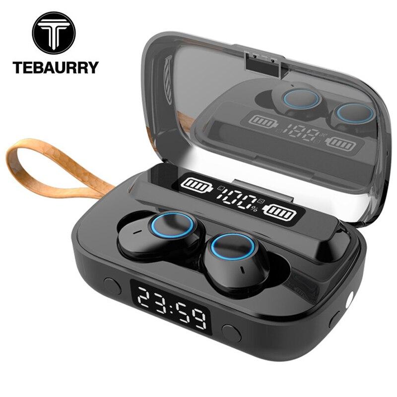 A13 TWS IPX7 Waterproof Bluetooth Wireless Earphones HiFi Stereo Sport Wireless Headphones Touch Earbud with Clock Flashlight