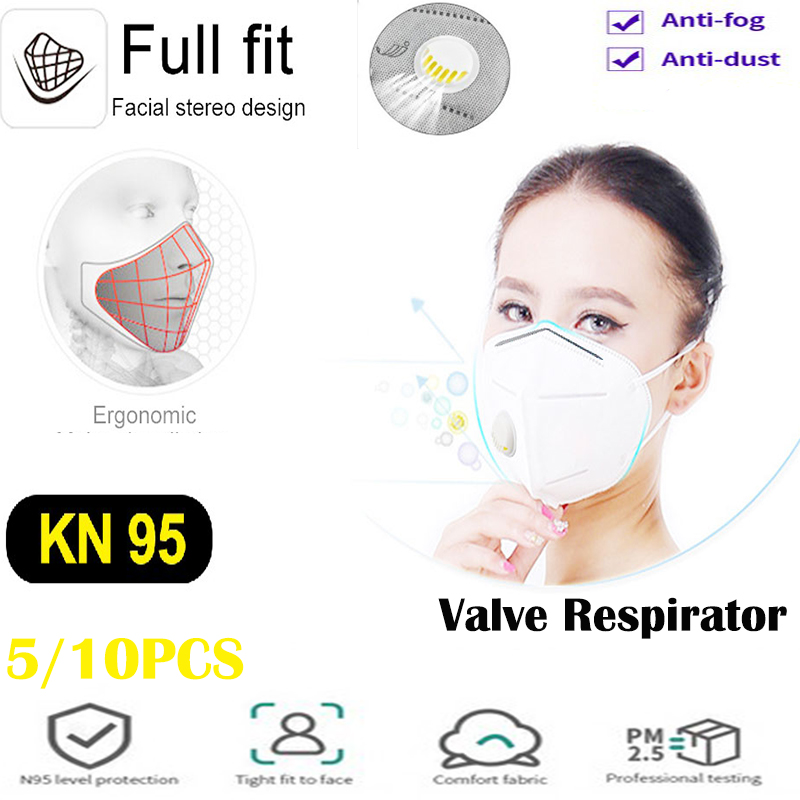 10/5 PCS N95 Mask KN95 Safety Masks 99% Filtration Dust PM2.5 Anti Mouth Masks For Adults Child Protection Pk Ffp3 FFP2 Kf94