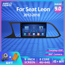 4G + 64G 2DIN Android 9,0 Auto Radio Für Seat Leon 3 2012-2018 Auto Multimedia Video player Navigation GPS RDS 2 Din DSP Dvd Player
