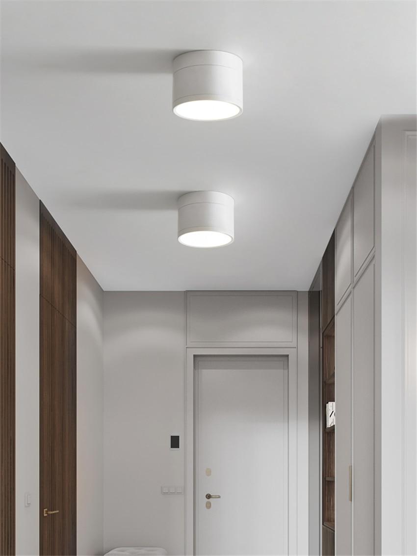 nordic cilindrico preto branco luzes de teto 04