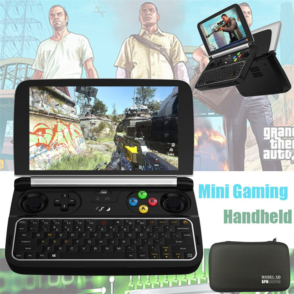 Gpd win 2-mini jogo handheld console para windows 10 intel m3 2.6ghz 256gb ram