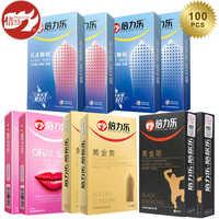 Beilile Spike condones 100 piezas/72/60/50 piezas eyaculación retardada condón para hombres de pene para artículos íntimos de la naturaleza del sexo