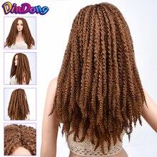 DinDong синтетический парик дредлок коса Парики 20 дюймов афро парик для афро-американских женщин