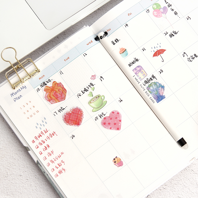 1 pc 365 Planner NoteBook Yearly Agenda Colorful Inner Page illustration Daily Plan Bullet Journal Record