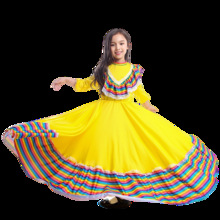 Girls Amazing Jalisco Traditional Guadalajara Mexican Folk Dancer Costume 3 Colors Available