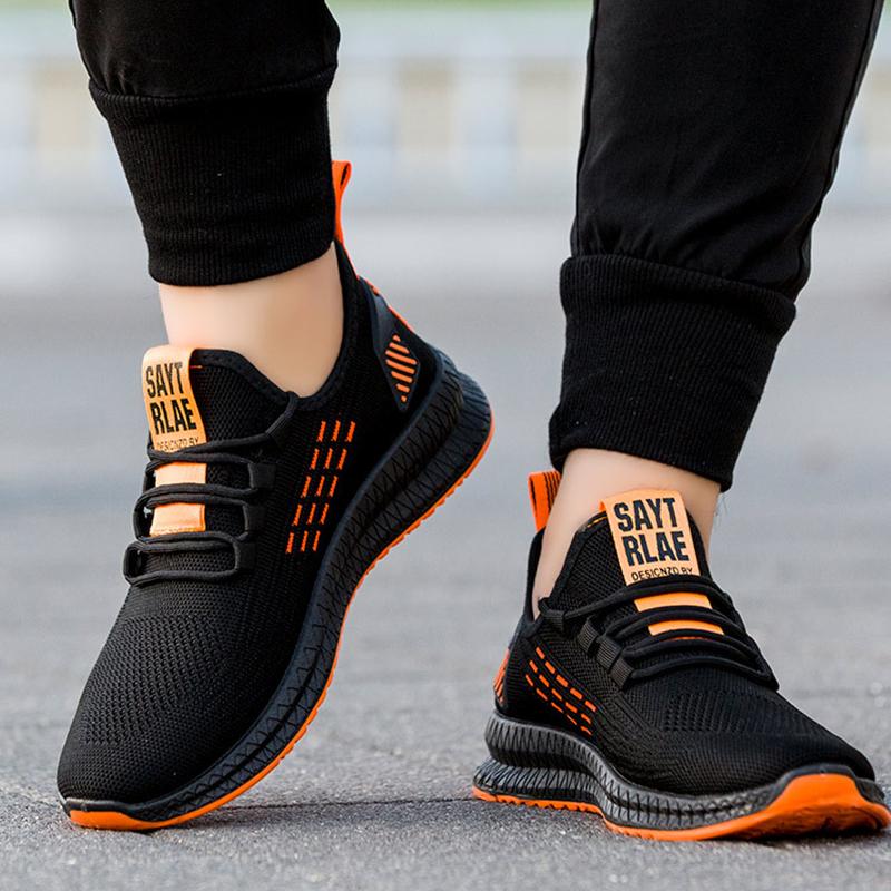 Fashion Sneakers Men Vulcanized Shoes Air Mesh Mens Trainers Lightweight Casual Shoes Men Black Footware Tenis Masculino