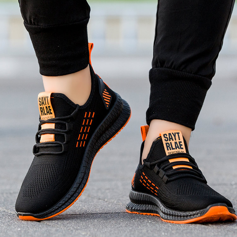 Fashion Sneakers Men Vulcanized Shoes Breathable Air Mesh Mens Casual Shoes Men Black Footware
