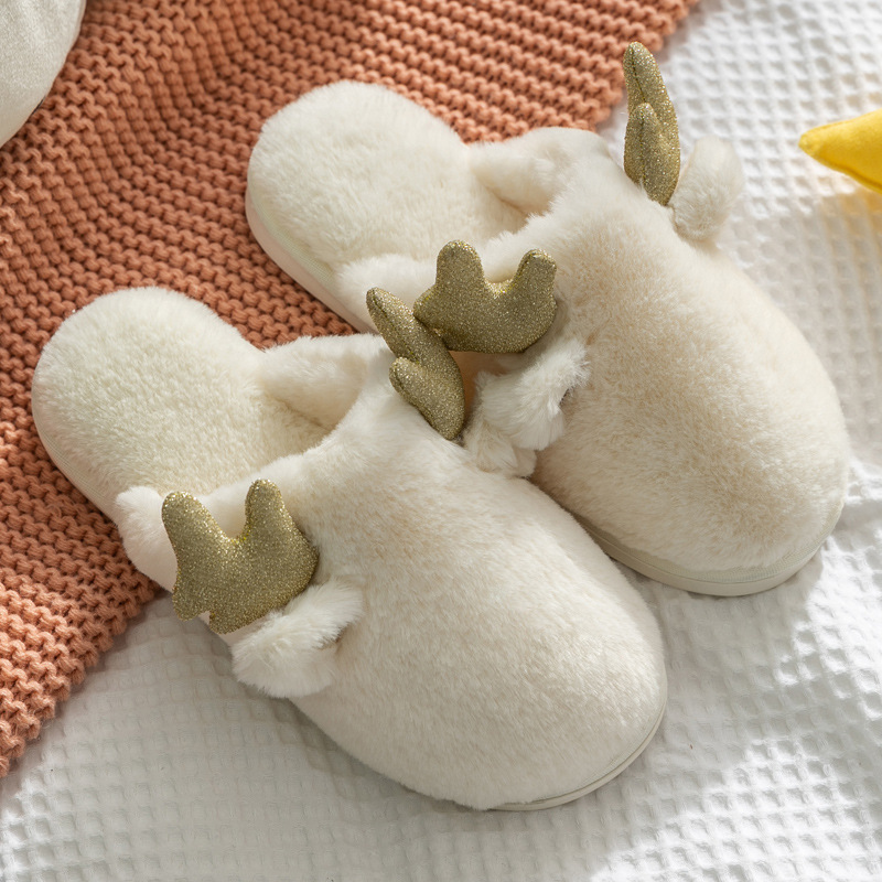 Купить женские меховые тапочки для дома теплые домашние из хлопка с
