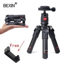 BEXIN mini stativ dslr desktop kamera telefon stehen stativ flexible tragbare falten reise stativ für dslr kamera mit mini kugelkopf