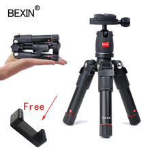BEXIN mini tripod dslr desktop camera phone stand tripod flexible portable fold travel tripod for dslr camera with mini ballhead