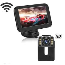 5 Inch Draadloze Auto Monitor Voertuig Auto Screen Achteruitrijcamera Truck Monitoren Reverse Back Up Recorder Wifi Camera