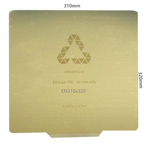 Image 2 - エネルギッシュな新 310 × 320 ミリメートル除去春鋼板事前適用ペイ + フレックス磁気ホットステッカーのための 3D プリンタ CR 10S プロ熱ベッド