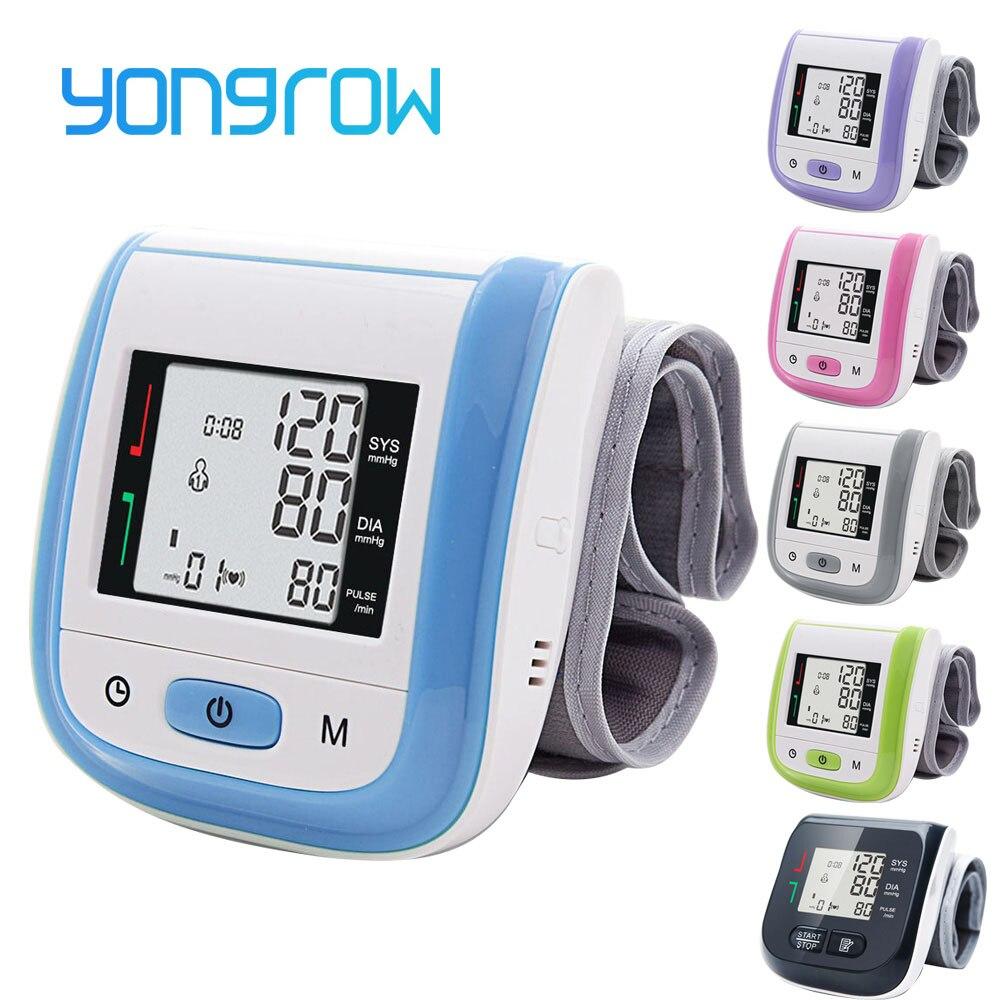 Yongrow tıbbi dijital bilek kan basıncı monitörü nabız darbe ölçer ölçme tansiyon aleti PR