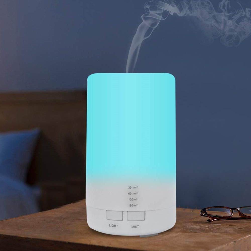 Home Car Portable Mini 125ml Air Humidifier USB Charge Air Purifier 7 Color LED Light Air Cleaner Aroma Oil Diffuser With Timing