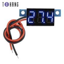 цена на 0.36 inch digital voltmeter 0.36 inch multi-color DC 0V-100V three-row 3-digit voltage panel display compatible board