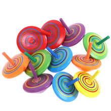 Children's Toy Boy Creative Wooden Hand-turned Small Top Decompression Dream Adult Decompression Nostalgic Novelty Fidget Toys
