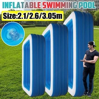 4 Layers Inflatable Portable Swimming Pool Adults Kids Water Pool Bathing Tub Outdoor Indoor Lounge Water Play Fun Backyard