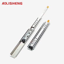 AOLISHENG With lock  Industry  Heavy Duty Drawer Slide Rail With 76mm Width Solid Ball Bearing