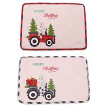 Christmas Plaid Placemat Tablecloth Soft Mat Washable Design Tableware Napkins Table Simple Mats Fabric Christmas Home Tabl G4N6(China)
