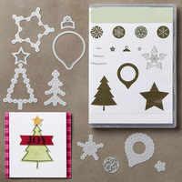 Merrt Di Natale Muore Stree star Fotopolimero Timbro Set Metallo Fustelle e francobolli per scrapbooking e le carte che fanno