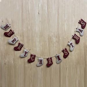 Рождественский баннер в форме носочков, Рождественское украшение, Уникальный рождественский баннер ручной работы
