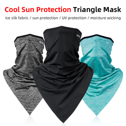 ROCKBROS Cycling Face Bandana Sunscreen Triangle Scarf Sport Moisture Wicking Breathable Running Fishing Motorcycle Headwear