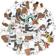 Bonito dos desenhos animados panda urso polar unicórnio adesivo estudante escola diário mão ledger papelaria do telefone móvel guitarra decoração kawaii