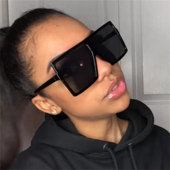 2020 NEW Fashion square big box sunglasses women brand designer Retro glasses trend colorful
