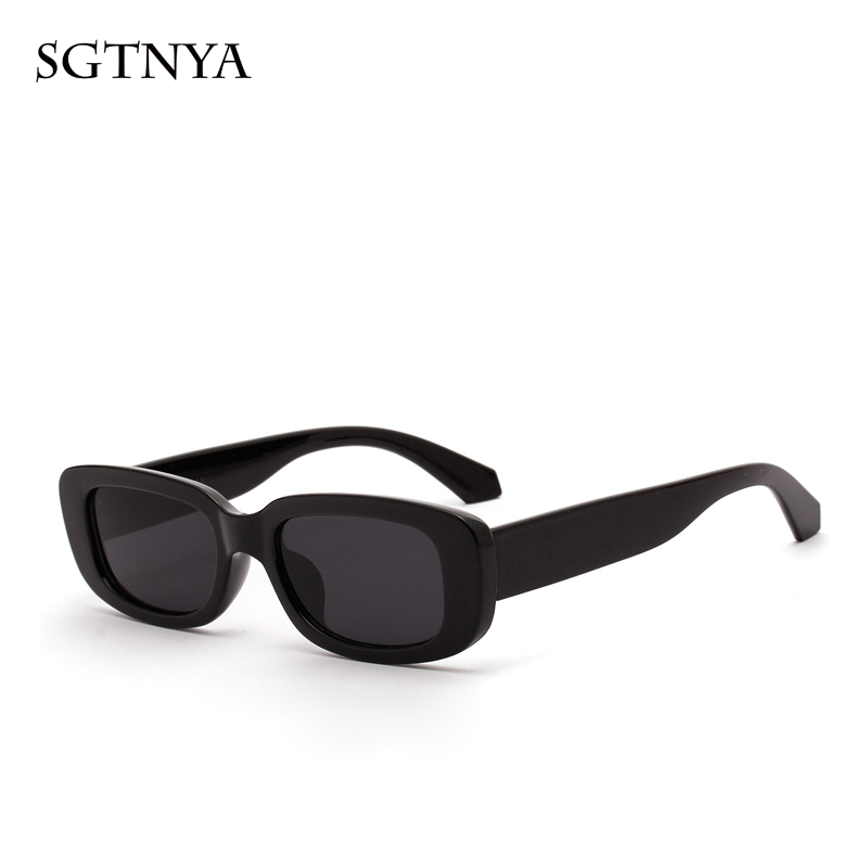 SGTNYA New Fashion Short Box Sunglasses Women Retro Leopard Small Sunglasses Men UV400