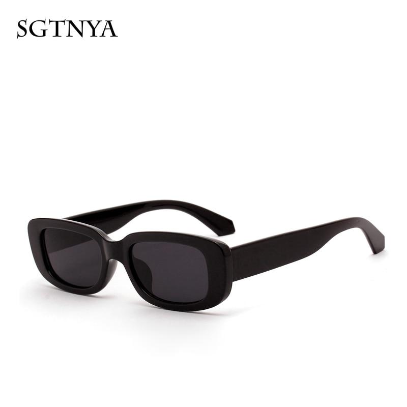 SGTNYA New Fashion Short Box Sunglasses Women Retro Leopard Small Sunglasses Men UV400